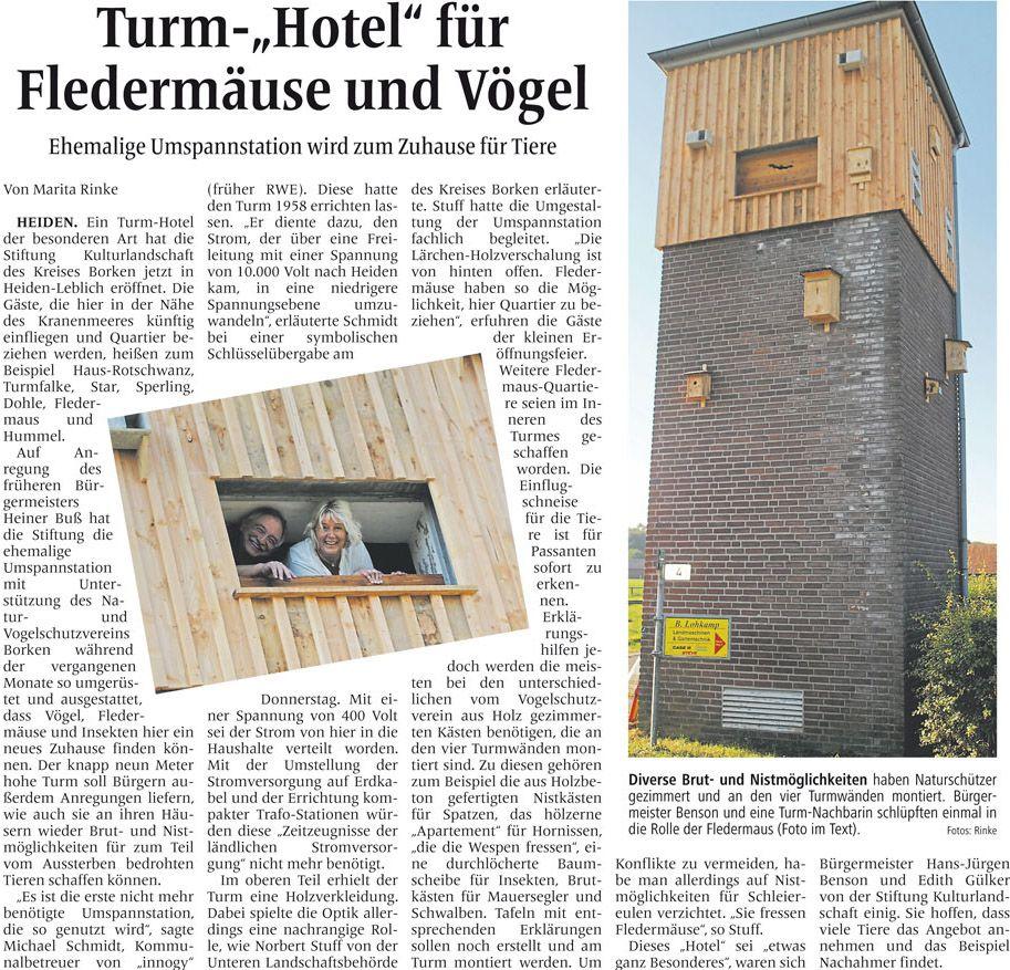 Zeitungsartikel aus der Borkener Zeitung vom 10. September 2016
