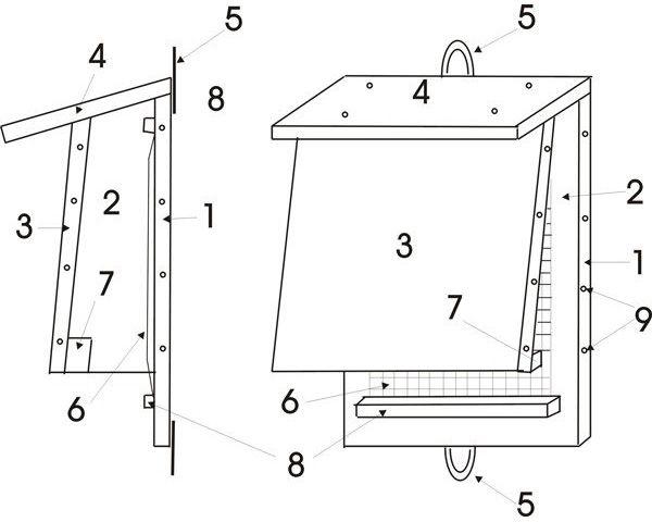 natur und vogelschutzverein kreis borken e v bausatz fledermauskasten. Black Bedroom Furniture Sets. Home Design Ideas